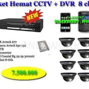 DVR - Paket CCTV 4 Kamera 600TVL ASLI + 500GB HDD - Bonus Setting Online Bisa