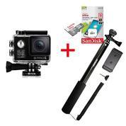 Action Camera Brica B-Pro 5 Alpha Edition 4K + Memory Sandisk 16Gb Class 10 + Monopod Attanta SMP-07