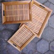 Nampan Bambu 1 Set Isi 3