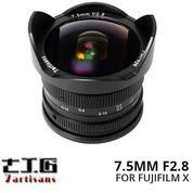 Lensa 7ARTISANS 7.5MM F2.8 FOR Mirrorless FUJIFILM X Mount Series