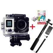 Action Camera Kogan 4K NV UltraHD 16MP Wi-Fi [Paket] + Memory Sandisk 16Gb Class 10 + Monopod SMP-07