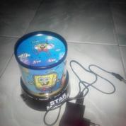 Lampu Tidur Proyektor Star Master Spongebob (Musik + Berputar)