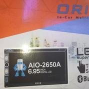 Doble Din Oris AIO 2650A Tv Mobil Support Mirrorink Brio Ayla Agya Sigra Cayla Mobilio Avanza Xenia