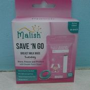 Malish Kantong ASI 100ml Pink