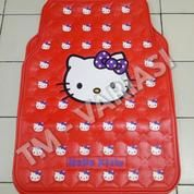 Karpet Mobil Universal Motif Hello Kitty Big And Little Head Merah