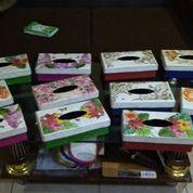 Kotak Tisu Pandan Decoupage