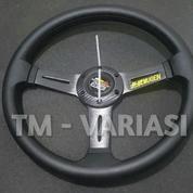 Stir Racing Logo Mugen 14 Inchi Tengah Motif Carbon Palang Hitam