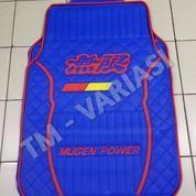 Karpet Mobil Universal Motif Mugen Logo Merah List Merah Dasar Biru