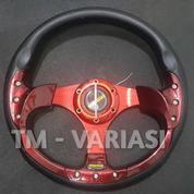 Stir Racing Momo 13 Inchi Import Merah Motif Rendah Universal