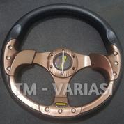 Stir Racing Momo 13 Inchi Import Coklat Motif Rendah Universal
