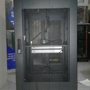 "Rack Server Surabaya - Close Rack 19"" 20U Depth 900mm Pintu Lubang-Lubang"