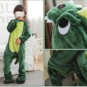 Cute Kid Onesie Pijama Green Dragon Outfit