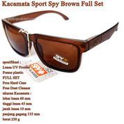 Kacamata Pria Sunglasses SPY Brown Full Set
