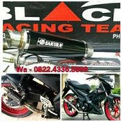 Knalpot Racing Satria Fu, Mx King, Cbr, R15 Full System