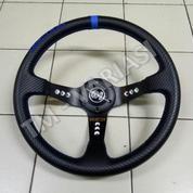 Stir Racing Import Drifting Carbon Celong 14 Inchi List Biru Palang Hitam