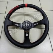 Stir Racing Import Drifting Carbon Celong 14 Inchi List Merah Palang Hitam