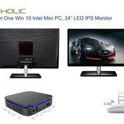 "Paket G-HOLIC All In One PC 24"" LED Dengan Intel Processor Win 10 + Keyboard Mouse Combo"