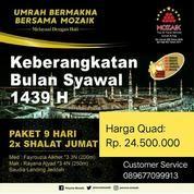 Daftarkan Umroh Syawal 5 Juli 2018