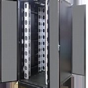 "Rack Server 24"" Close Rack 45U Depth 1100mm With Adapter 19"" Black Double Door"