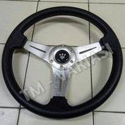 Stir Racing 14 Inchi Model Datar Palang Tengah Full Silver Logo Masrti
