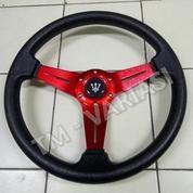 Stir Racing 14 Inchi Model Datar Palang Tengah Full Merah Logo Masrti