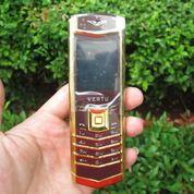 Hape Antik Mewah Verteu M6i Body Metal Kulit Luxury Phone