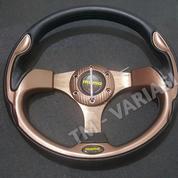 Stir Racing Momo 13 Inchi Import Coklat Motif Tinggi Universal