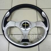 Stir Racing Momo 13 Inchi Import Merah Motif Tinggi Palang Silver