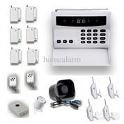 Alarm Voice Prompt Digital Display LCD Wireless-Wired SMS GSM Alarm