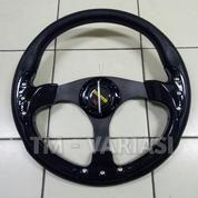 Stir Racing Momo 14 Inchi Import Hitam Motif Rendah Universal