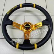 Stir Racing Import Momo Drifting Celong 14 Inchi Palang Gold