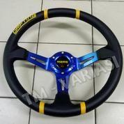 Stir Racing Import Momo Drifting Celong 14 Inchi Palang Biru List Kuning