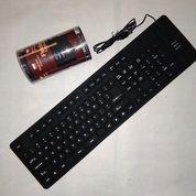 Keyboard Usb Flexible Elastis Lipat Gulung # Aksesoris Komputer