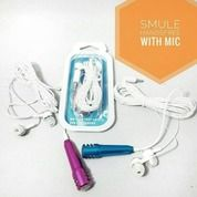 Microphone Mini + Headset Smule / Mic Earphone 2 In 1