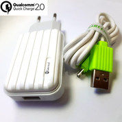 Charger Fast Charging Greenvod Qualcom Quick Charge 2.0 Android Micro