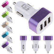 Adaptor Charger Mobil / Saver Car Charger 3in1 3 Output