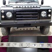 Emblem Silver Mobil Land Rover Defender Front Bonnet.565x37