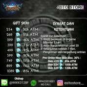 Skin Mobile Legends 254 Diamond Murah || Legal || Android & Ios
