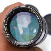 Lensa Manual yashica 200mm f4 Mount CY