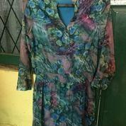 Baju Blous Panjang Wanita Motif Bunga