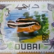Prangko Dubai Seri Ikan