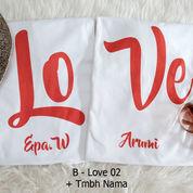 Kaos Couple Love02