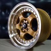 Velg Mobil Brisket Ring 15x7/8 H8x100/114 Gold Racing Brio, Agya, Yaris, Avanza, Xenia