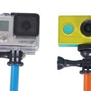 Tongsis Monopod Round Mount For Action Camera GoPro/Xiaomi Yi - Hitam