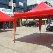 Tenda Lipat Merah Polos Ukuran 3x4.5