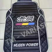 Karpet Mobil Universal Motif Mugen Power List Putih Dasar Hitam
