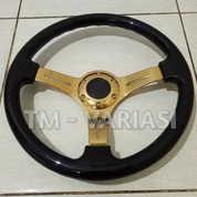 Stir Racing Wood Black Colour Import 14 Inchi Palang Gold Premium