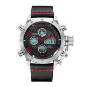 GOLDEN HOUR 106 Silver Red - Jam Tangan Sporty Pria