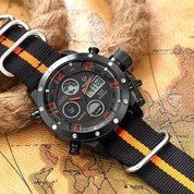 GOLDEN HOUR 106 Orange Black Original - Jam Tangan Sporty Pria