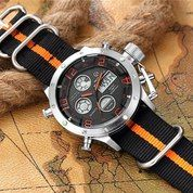 GOLDEN HOUR 106 Orange Silver Original - Jam Tangan Sporty Pria